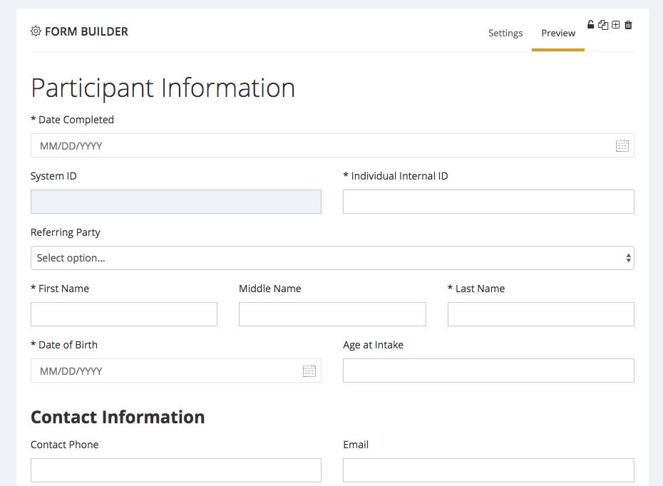 CaseMGR form Builder screen shot